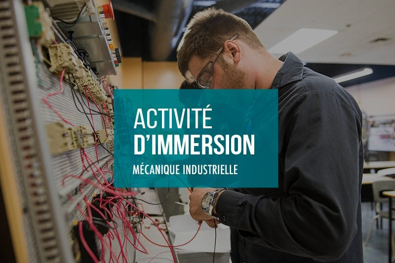 Activités d'immersion Mécanique industrielle à l'École Polymécanique de Laval