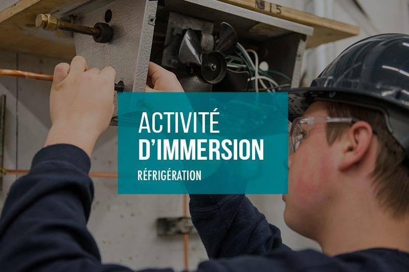 Activités d'immersion Réfrigération à l'École Polymécanique de Laval
