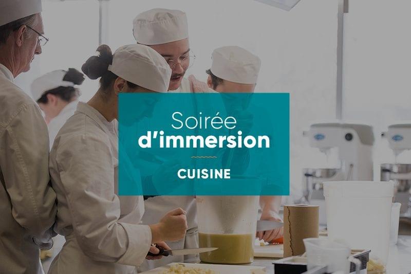 Activités d'immersion Cuisine à l'École hôtelière de Laval
