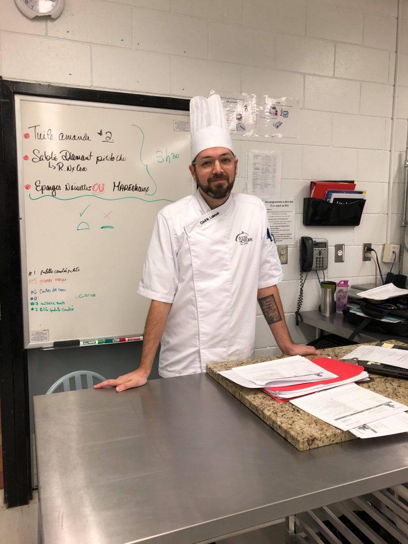 Cédrick Lalande, enseignant en Pâtisserie